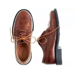 J Crew Crew Cuts Boys Brown Classic Wing Tips
